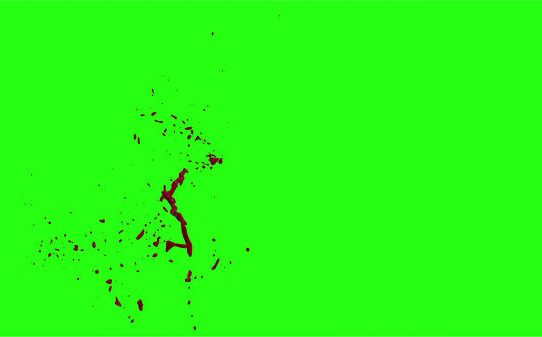 Hd Blood Burst Motion Blur Green Screen 154