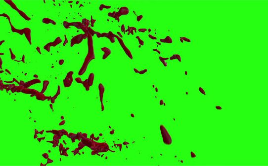 Hd Blood Burst Motion Blur Green Screen 157