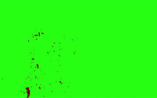 Hd Blood Burst Motion Blur Green Screen 161
