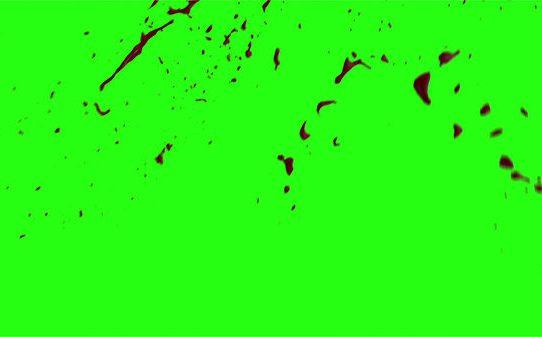 Hd Blood Burst Motion Blur Green Screen 164