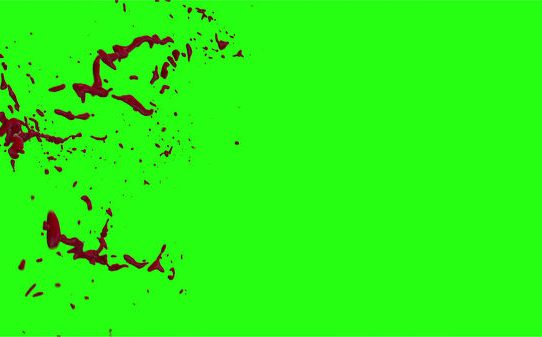 Hd Blood Burst Motion Blur Green Screen 165