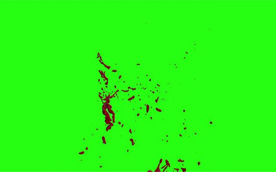 Hd Blood Burst Motion Blur Green Screen 168