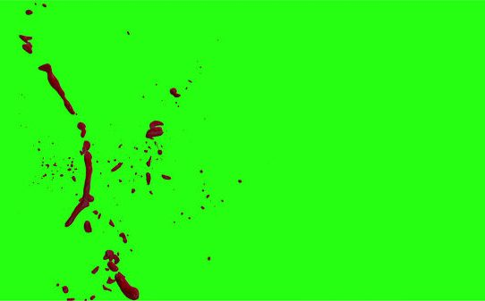 Hd Blood Burst Motion Blur Green Screen 182