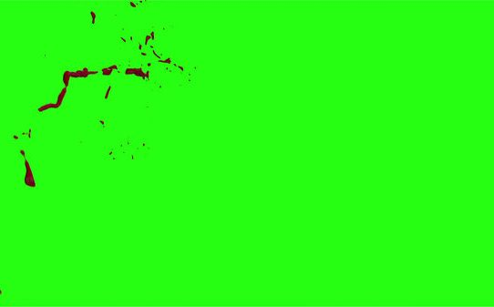 Hd Blood Burst Motion Blur Green Screen 185