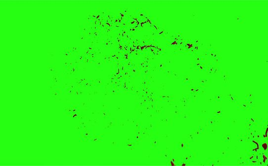Hd Blood Burst Motion Blur Green Screen 190